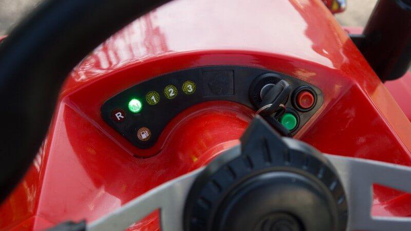 Kindertraktor-110ccm-Motor-mit-Ha--nger-Rot-Cockpit