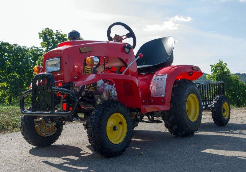 Kindertraktor-110ccm-Motor-mit-Ha--nger-Rot